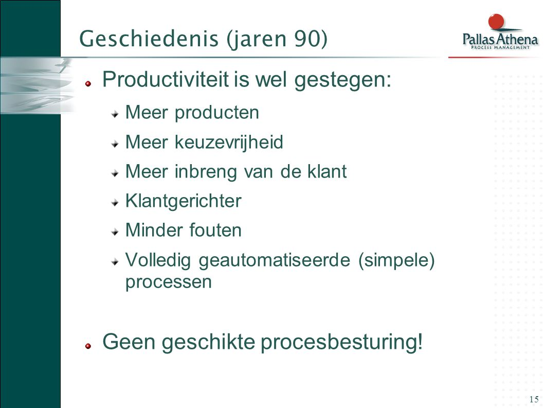 Productiviteit is wel gestegen: