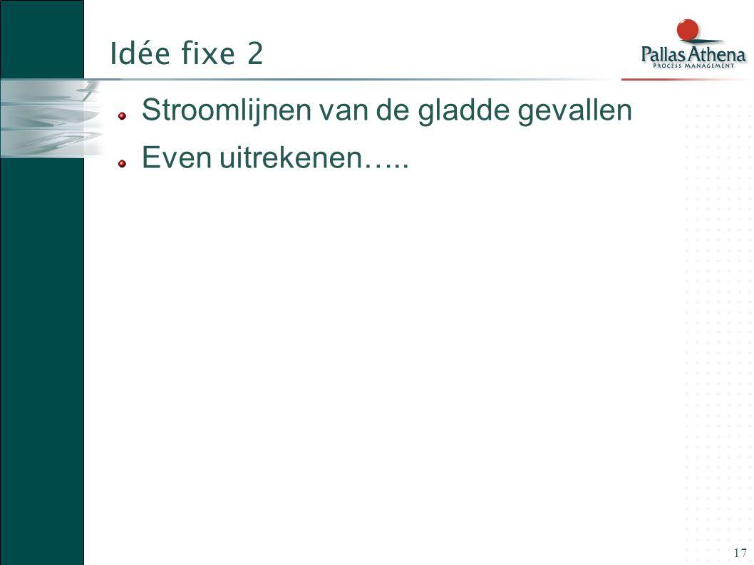 Idée fixe 2 Stroomlijnen van de gladde gevallen Even uitrekenen…..