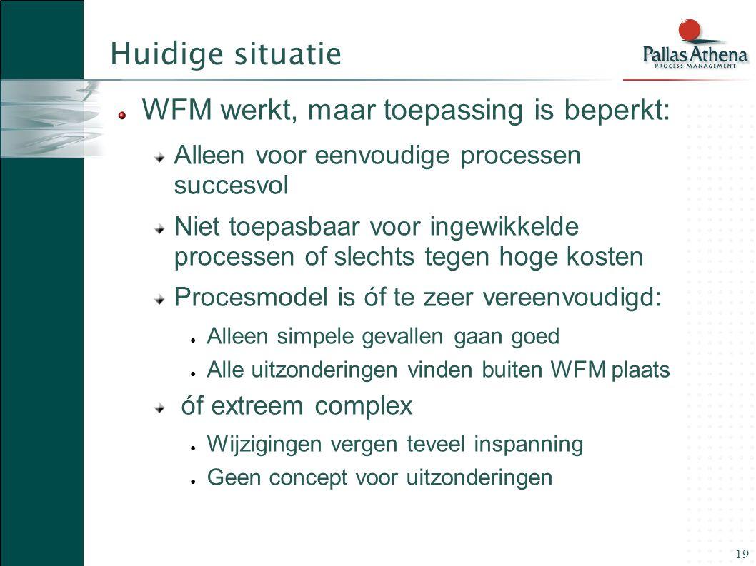 Huidige situatie WFM werkt, maar toepassing is beperkt: