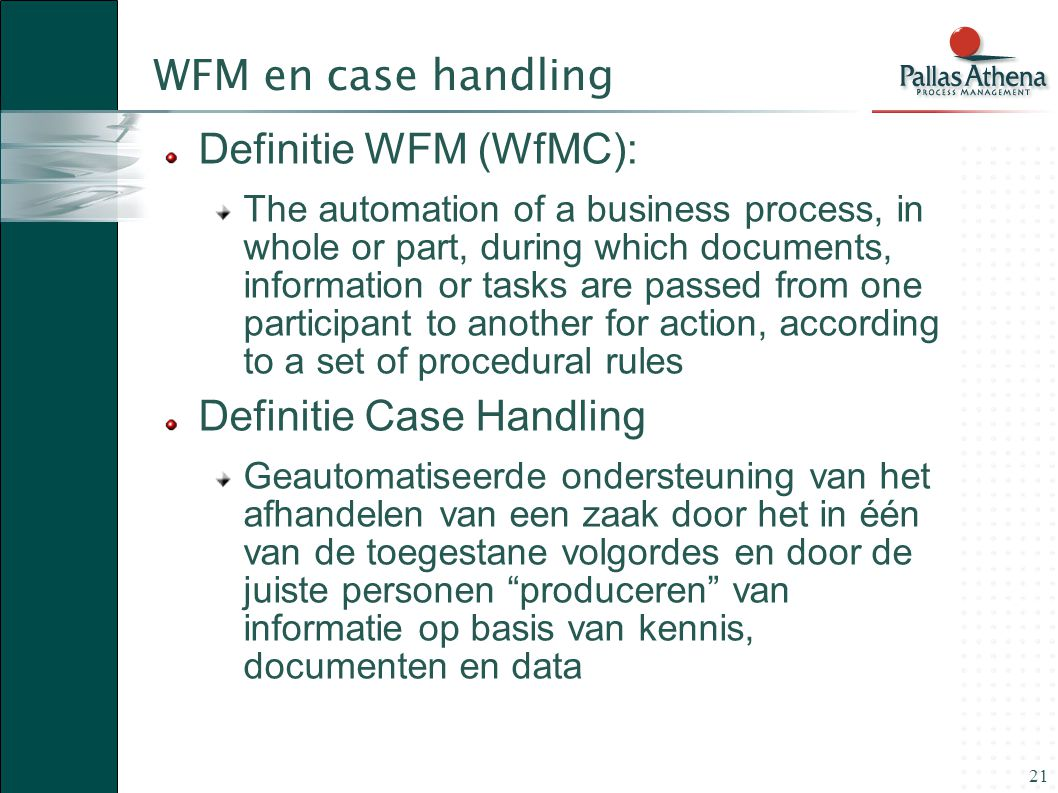 Definitie Case Handling