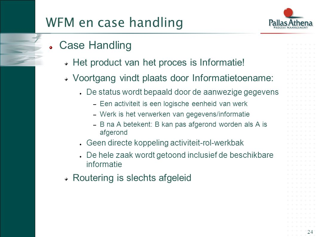 WFM en case handling Case Handling