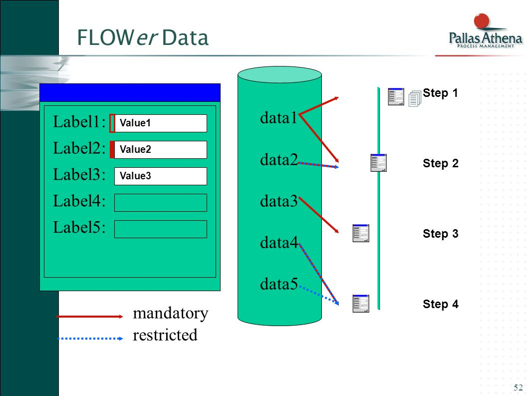 FLOWer Data data1  data2 Label1: data3 Label2: data4 Label3: data5