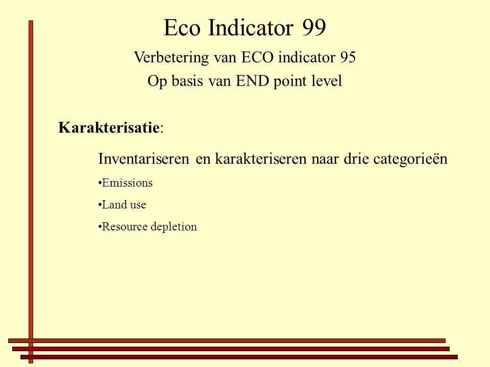 Eco Indicator 99 Verbetering van ECO indicator 95