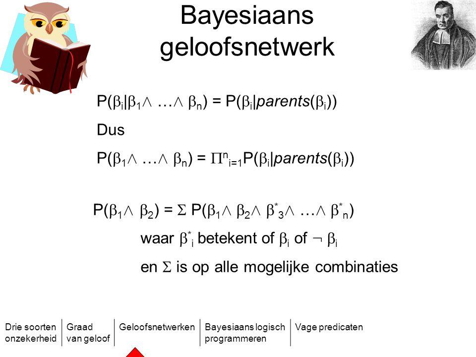 Bayesiaans geloofsnetwerk