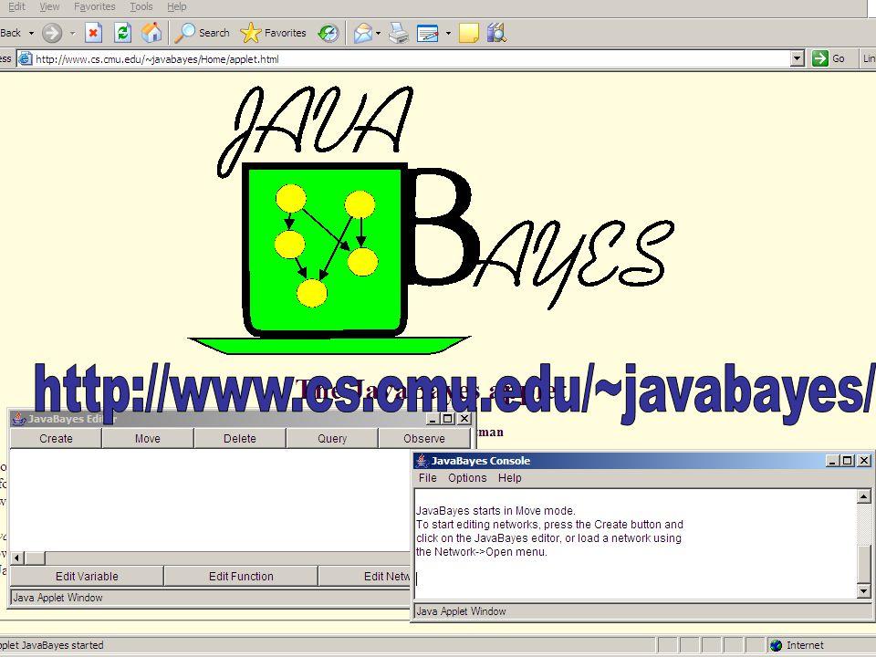 Vlugge Vraag http://www.cs.cmu.edu/~javabayes/