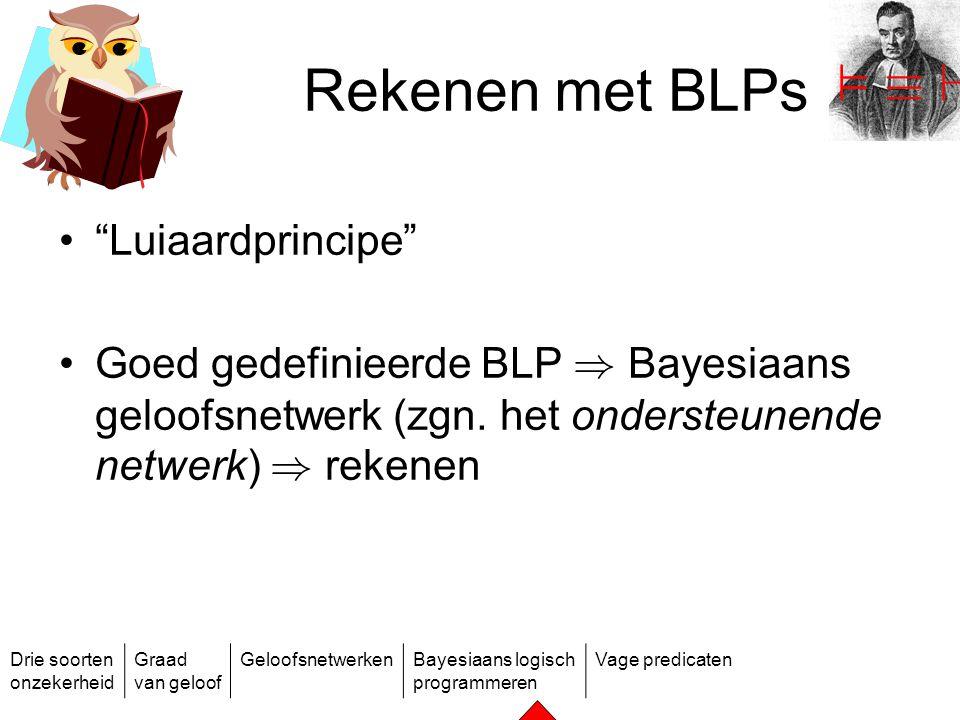 Rekenen met BLPs ² ´ ` Luiaardprincipe