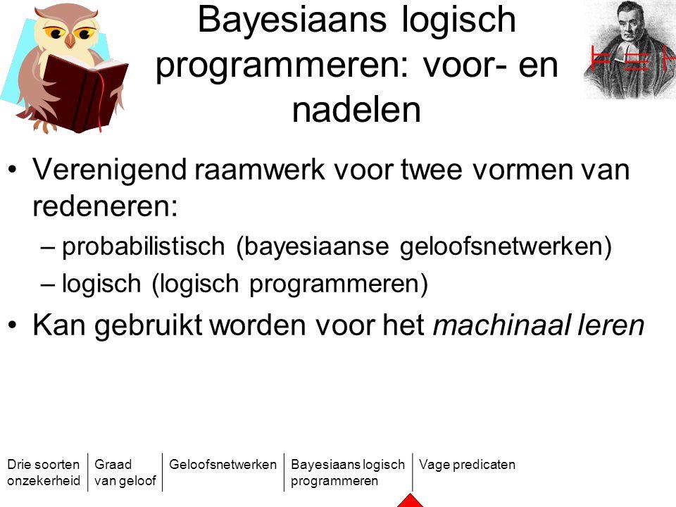 Bayesiaans logisch programmeren: voor- en nadelen