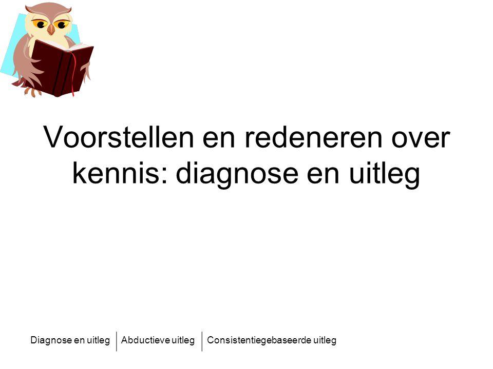 Voorstellen en redeneren over kennis: diagnose en uitleg
