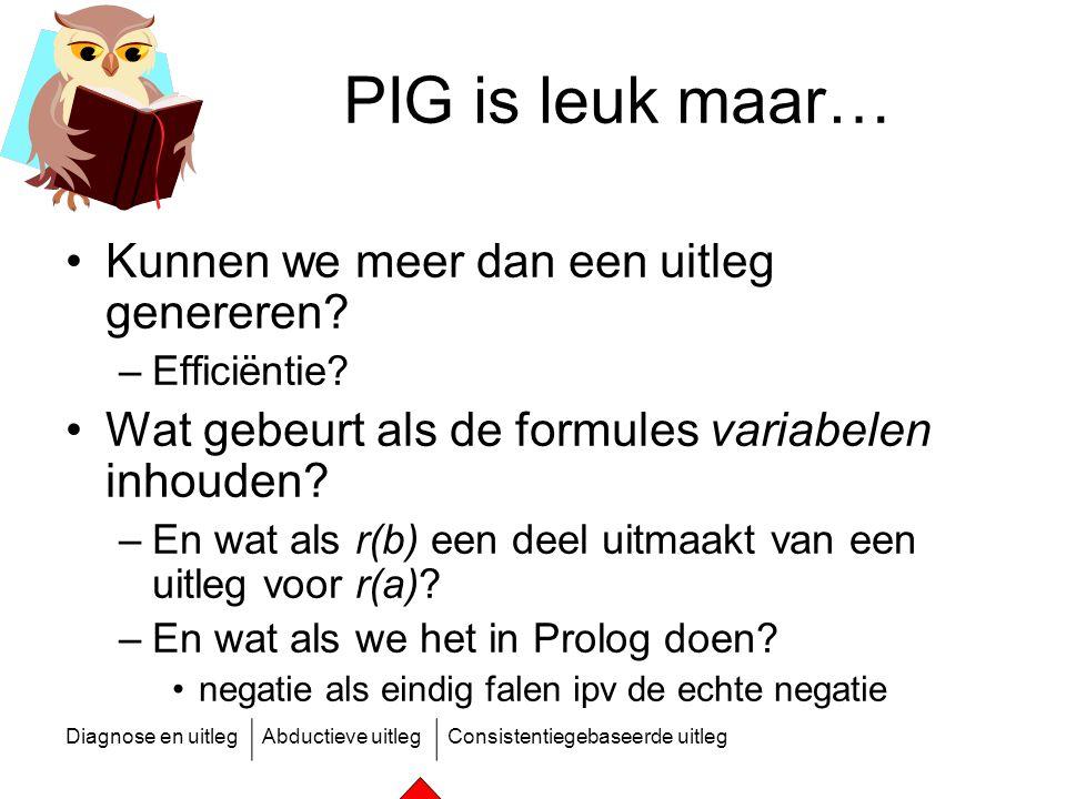 PIG is leuk maar… Kunnen we meer dan een uitleg genereren