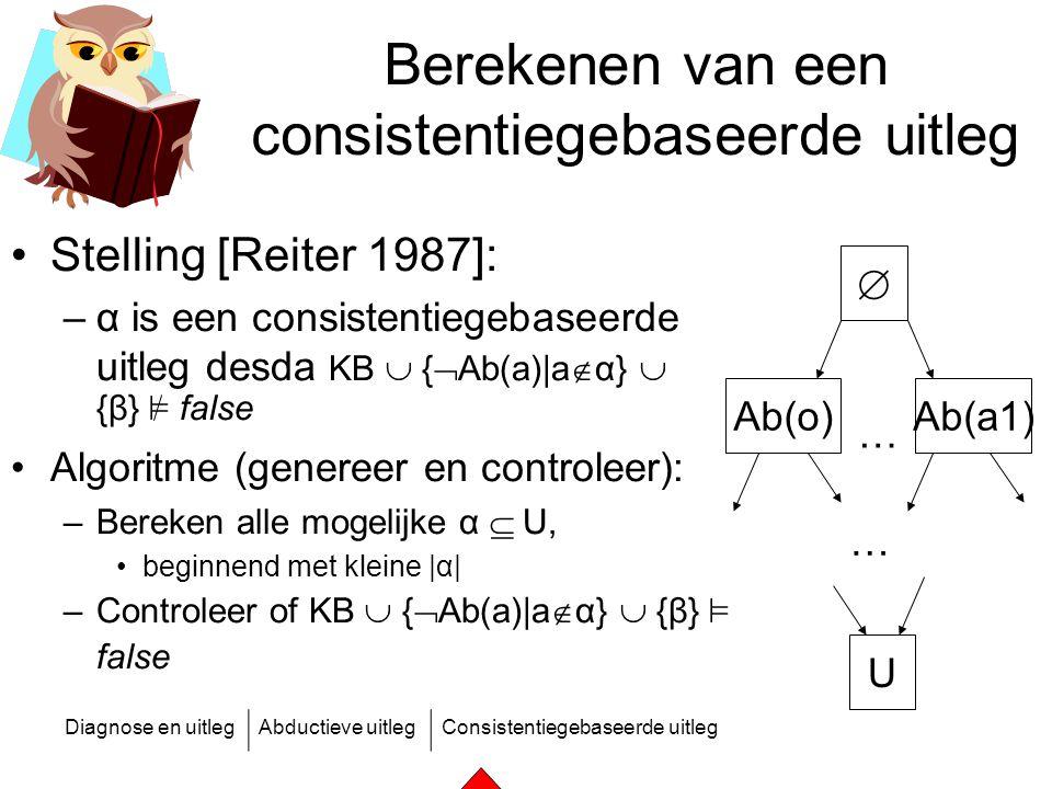 Berekenen van een consistentiegebaseerde uitleg