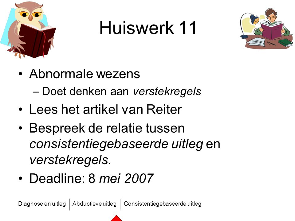 Huiswerk 11 Abnormale wezens Lees het artikel van Reiter