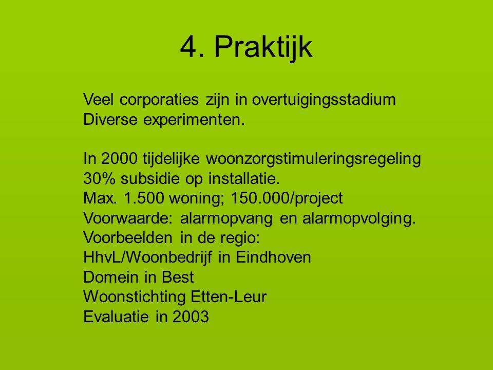 4. Praktijk Veel corporaties zijn in overtuigingsstadium