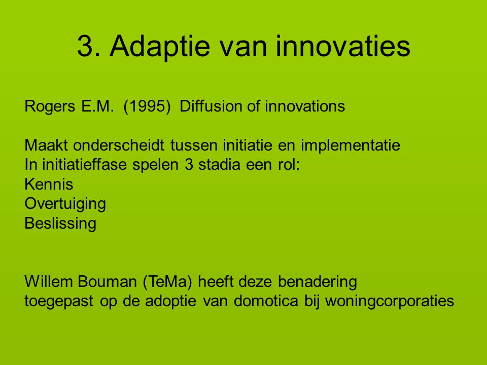 3. Adaptie van innovaties
