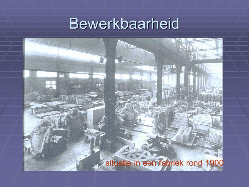 Bewerkbaarheid situatie in een fabriek rond 1900