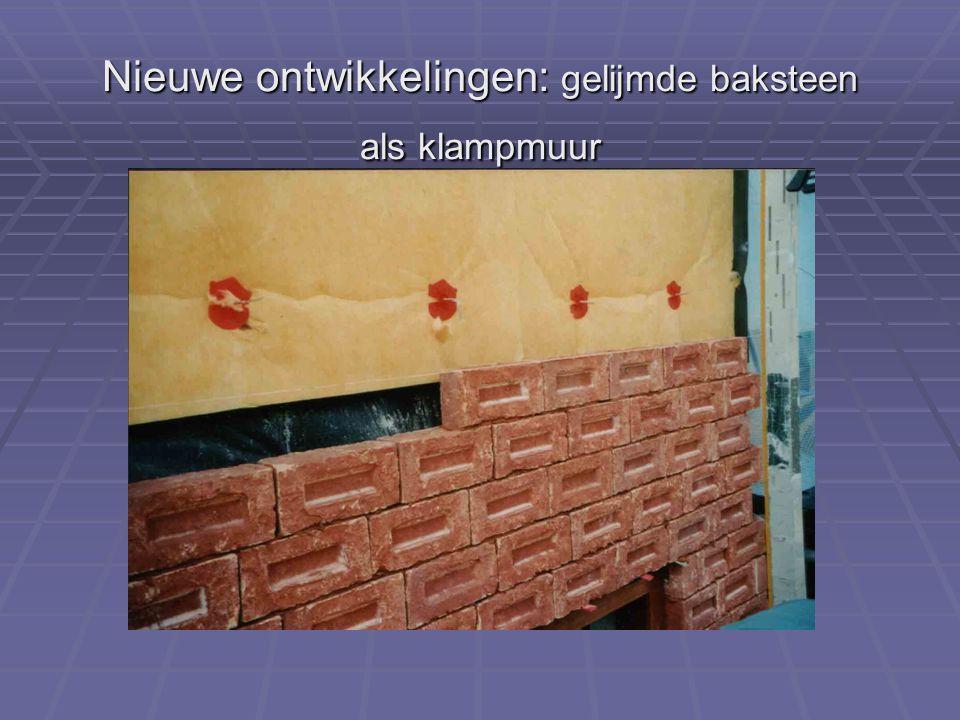 Nieuwe ontwikkelingen: gelijmde baksteen als klampmuur