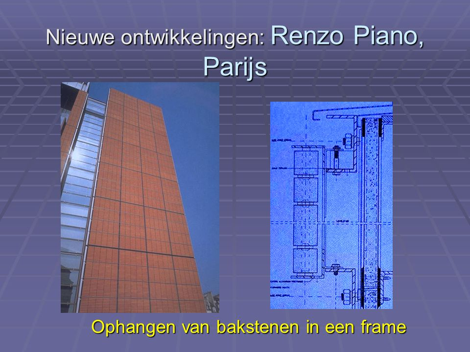 Nieuwe ontwikkelingen: Renzo Piano, Parijs