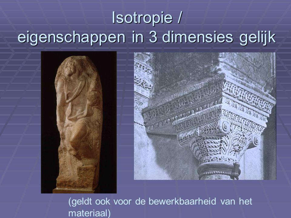 Isotropie / eigenschappen in 3 dimensies gelijk