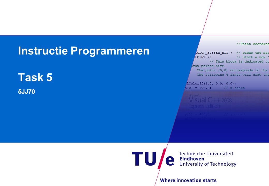 Instructie Programmeren Task 5