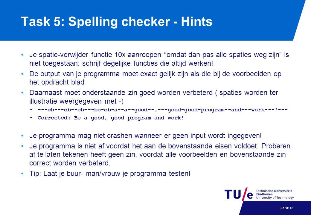 Task 5: Spelling checker - Hints