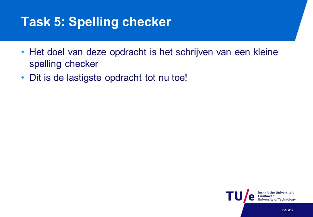 Task 5: Spelling checker