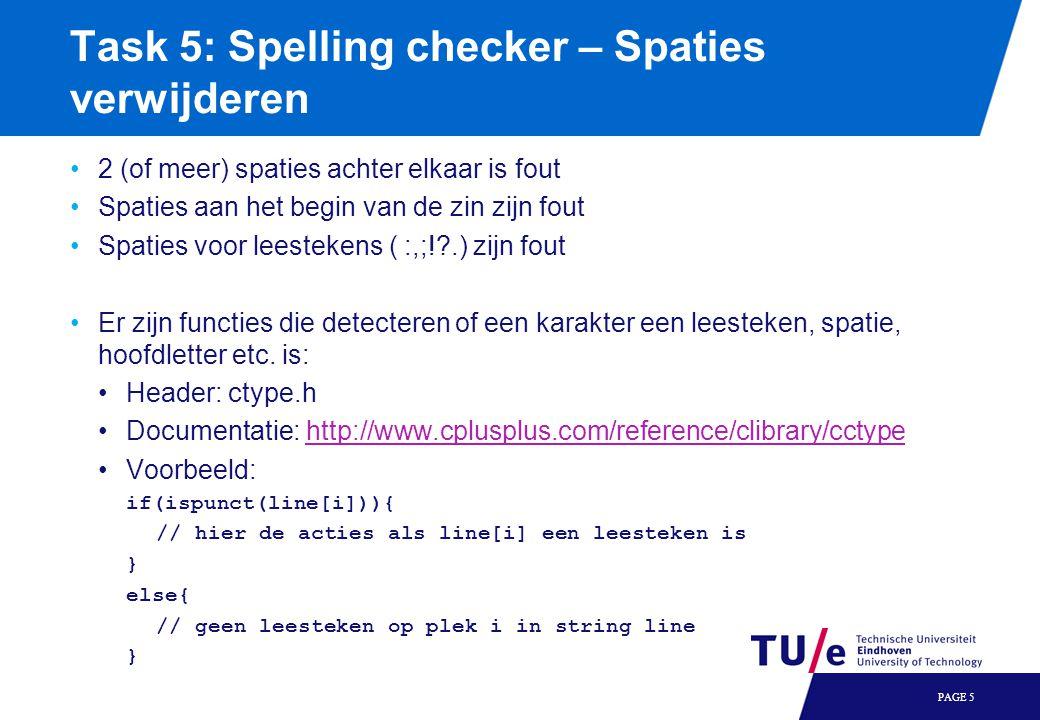 Task 5: Spelling checker – Spaties verwijderen