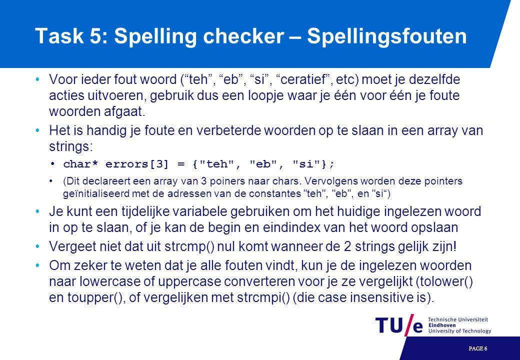 Task 5: Spelling checker – Spellingsfouten