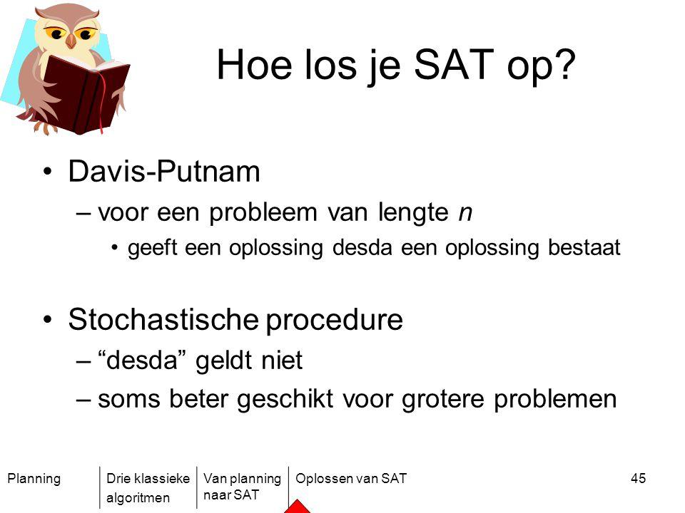 Hoe los je SAT op Davis-Putnam Stochastische procedure