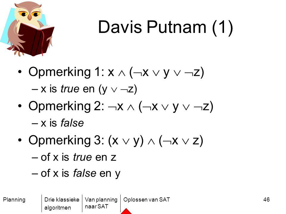 Davis Putnam (1) Opmerking 1: x  (x  y  z)