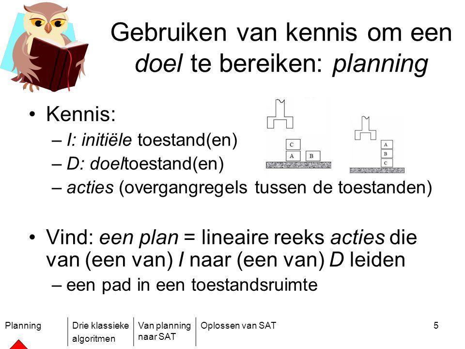 Gebruiken van kennis om een doel te bereiken: planning