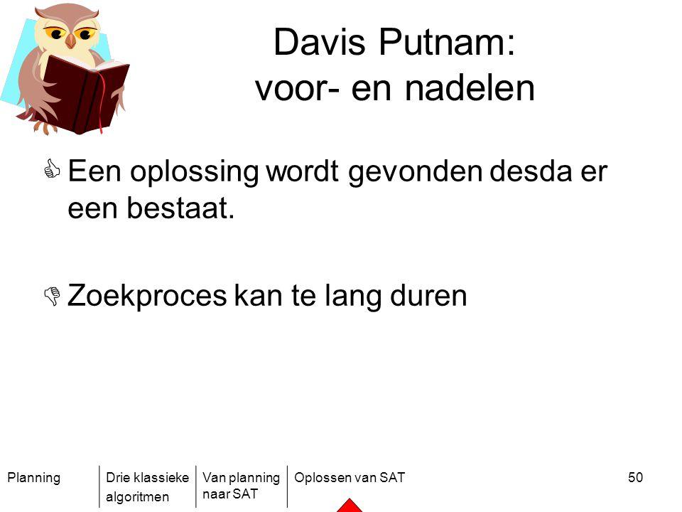 Davis Putnam: voor- en nadelen