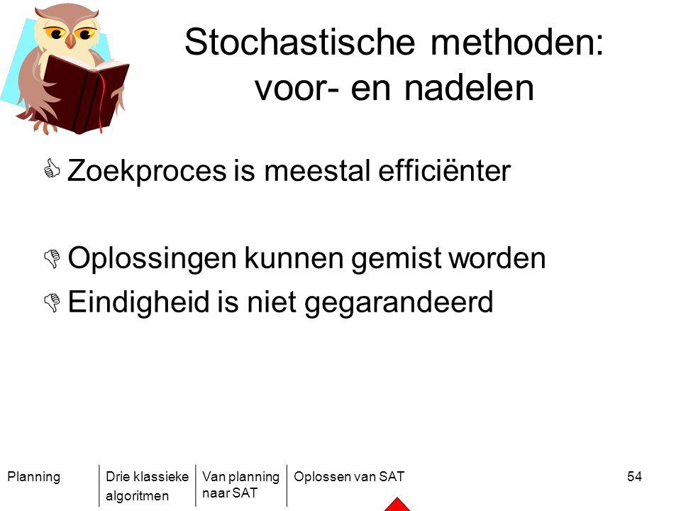 Stochastische methoden: voor- en nadelen