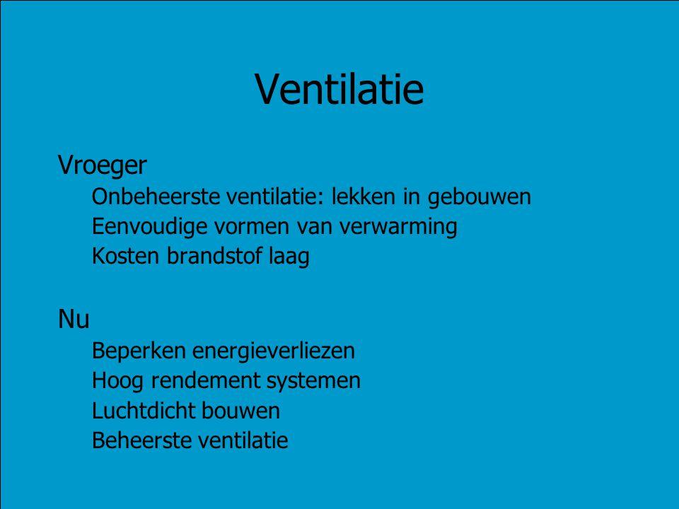 Ventilatie Vroeger Nu Onbeheerste ventilatie: lekken in gebouwen