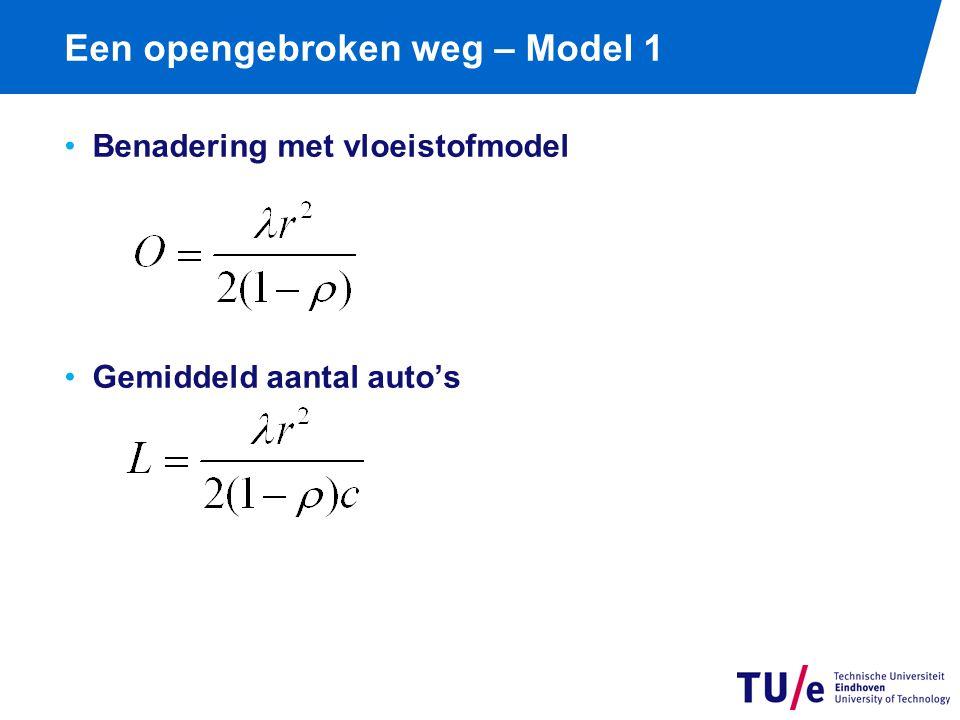 Een opengebroken weg Model 1: vaste cyclustijd Conclusie: ééndimensionaal probleem.
