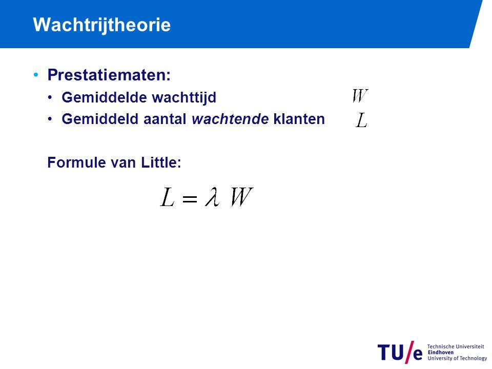 Wachtrijtheorie als l ≤ m als l > m