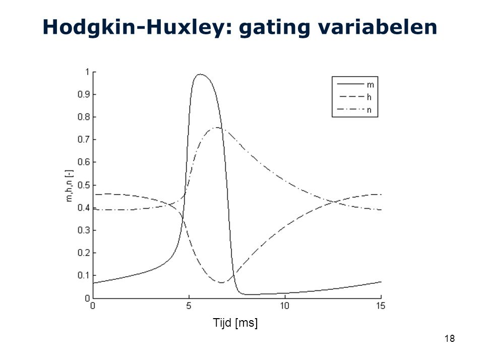 Hodgkin-Huxley: gating variabelen