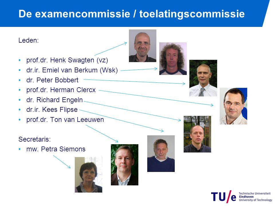 De examencommissie / toelatingscommissie