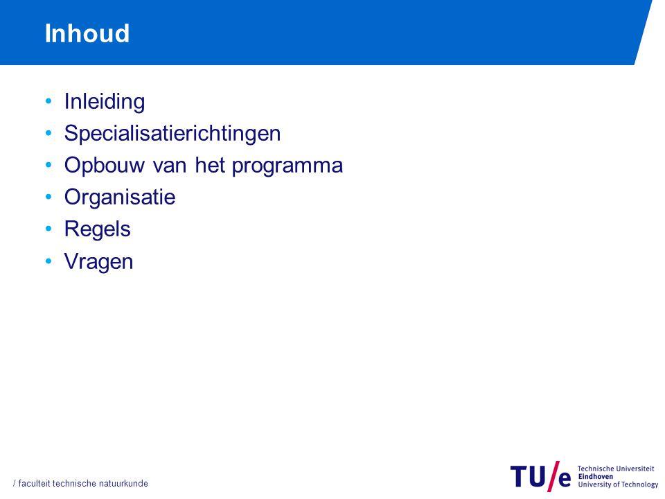 Inleiding Nieuwe master m.i.v. 5 september 2011