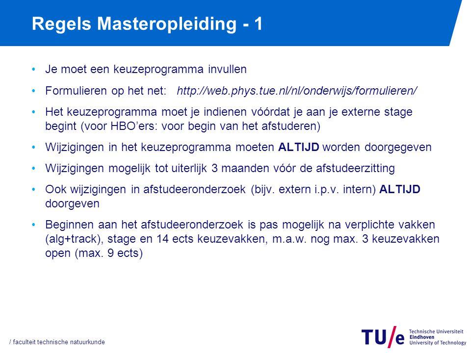 Regels voor de Masteropleiding - 2