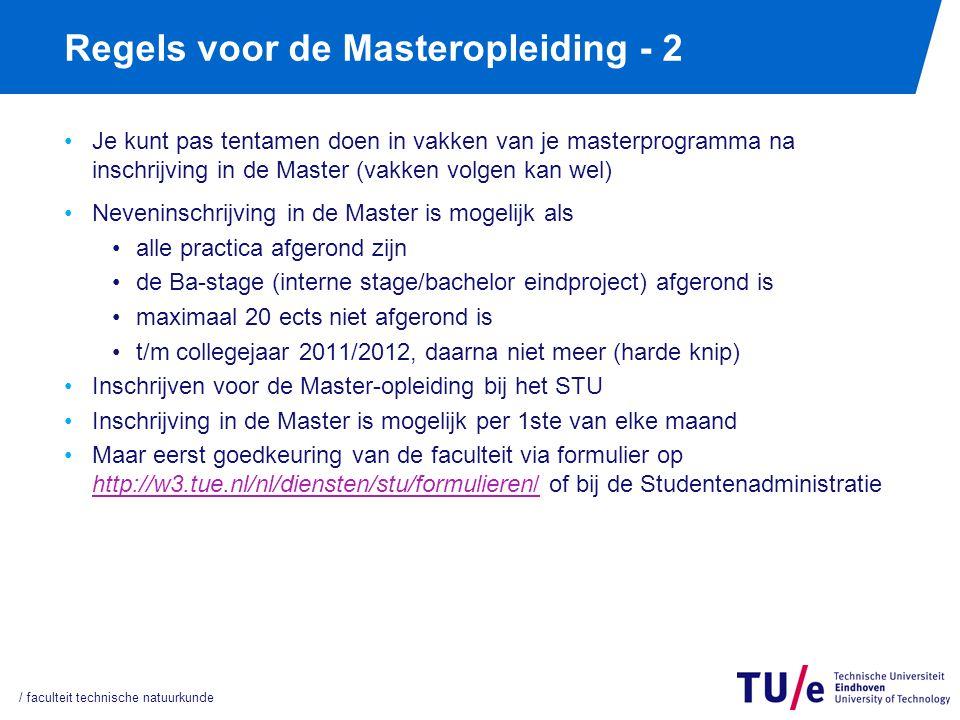 Regels Masterexamen 4 x per jaar mogelijk