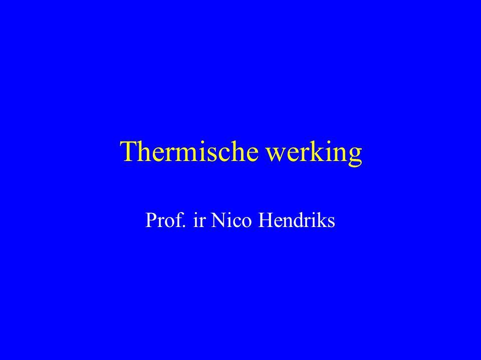 Thermische werking Prof. ir Nico Hendriks