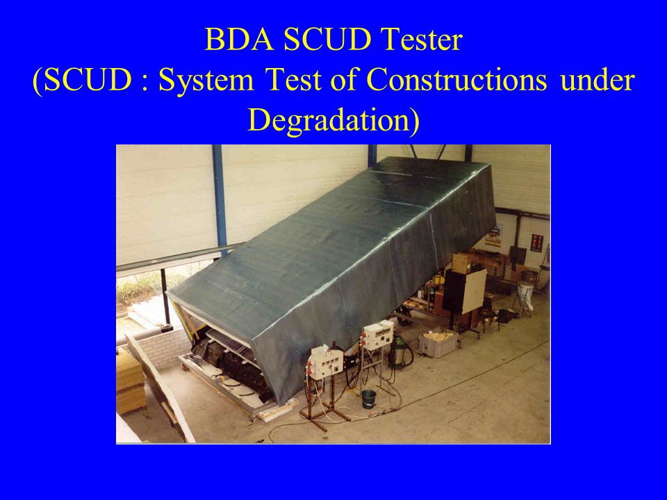 BDA SCUD Tester (SCUD : System Test of Constructions under Degradation)