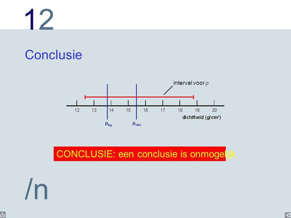 Conclusie interval voor r CONCLUSIE: een conclusie is onmogelijk