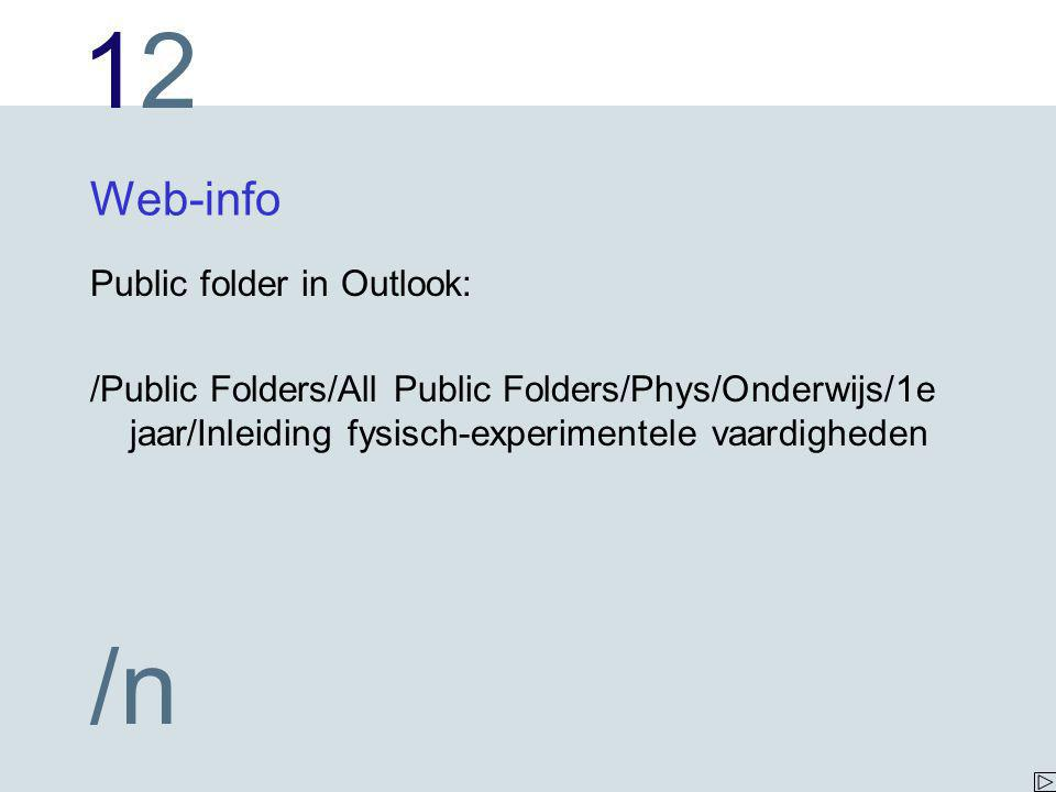 Web-info Public folder in Outlook: