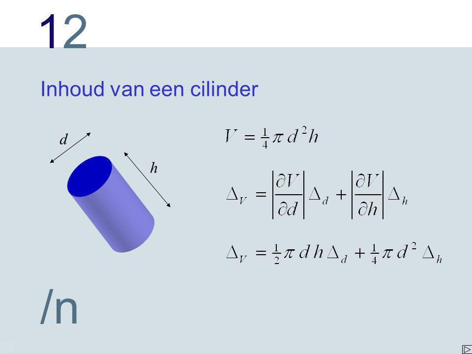 Inhoud van een cilinder
