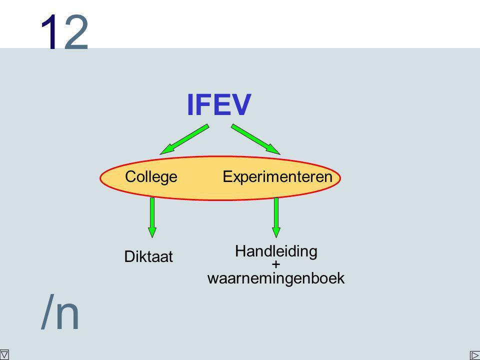 IFEV College Experimenteren Diktaat Handleiding + waarnemingenboek