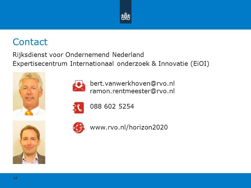 Contact Rijksdienst voor Ondernemend Nederland