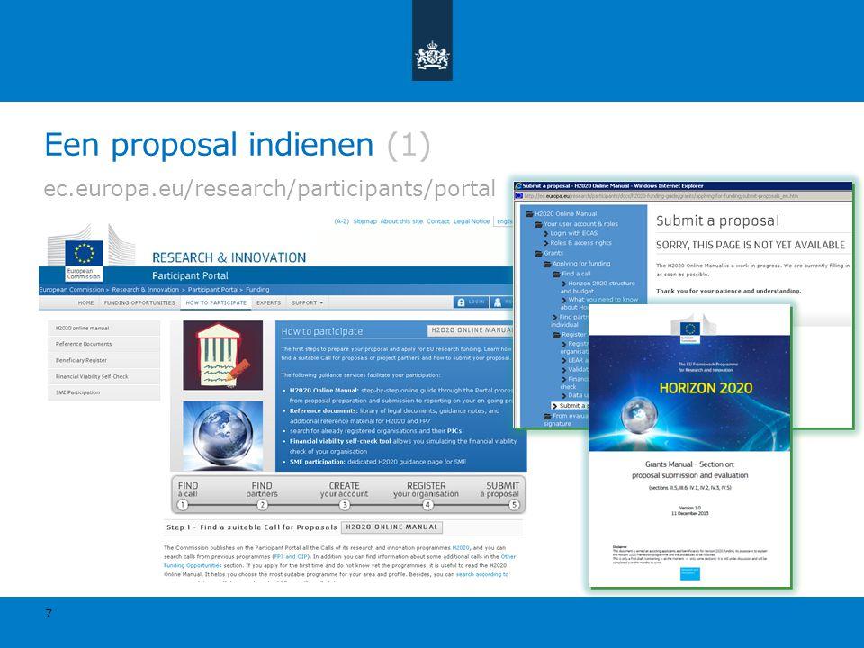 Een proposal indienen (1)