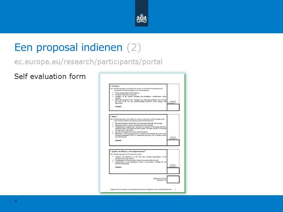 Een proposal indienen (2)