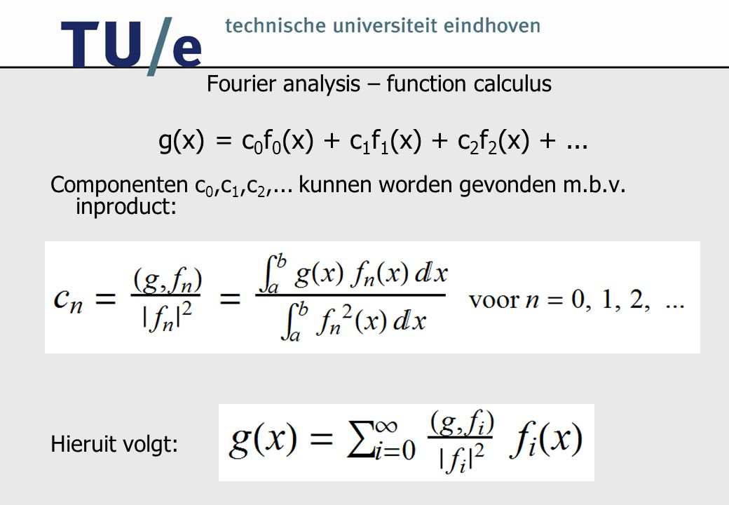 Fourier analysis – function calculus