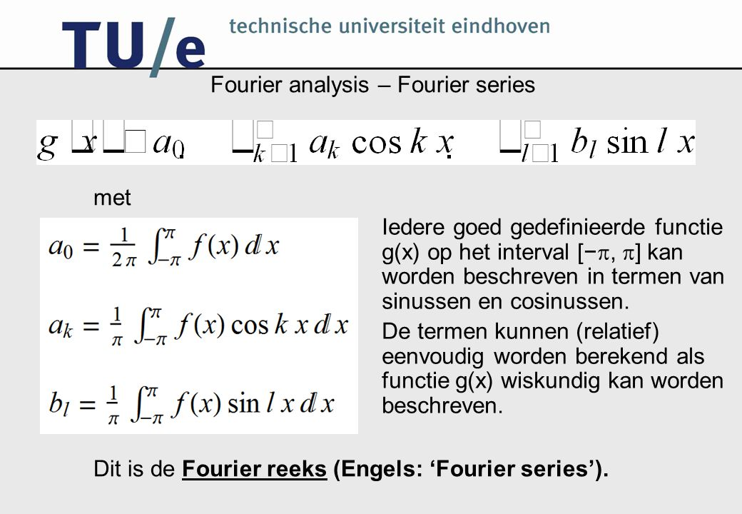 Fourier analysis – Fourier series